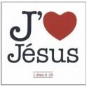 """""""Magnet 6x6 J'aime Jésus"""""""