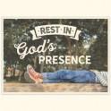 """Rest in God's presence"""