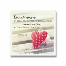 """""""Céramique à poser, Dieu est Amour"""""""