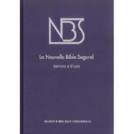 """""""La Nouvelle Bible Segond édition d'étude"""" couverture rigide bleu nuit - format grand"""
