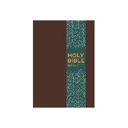 """Anglais, Bible NIV, marron imitation cuir"""""""