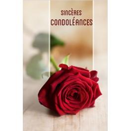 """Carte de condoléances rose"""