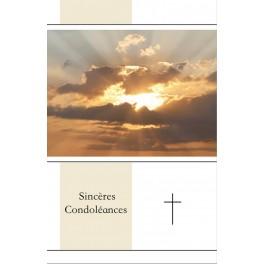 """""""Carte de condoléance - nuage"""""""
