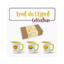 """""Lot de 3 MUGS - fruits de l'Esprit"" No 2"""