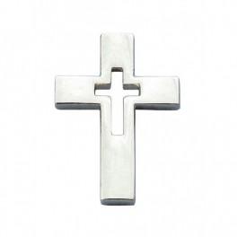 """""""Pin's Croix évidée argentée"""""""