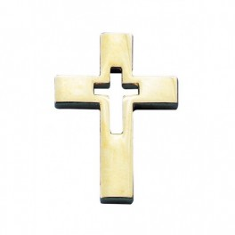 """""""Pin's Croix évidée dorée"""""""