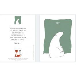 """""""Carnet de notes, ours blanc"""" par Little Red Fox"""