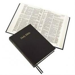 """""""Bible en anglais, noire, rigide avec gros caractères, version KJV"""""""
