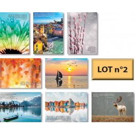 """""""Cartes postales avec verset biblique - lot n° 2 de 8 cartes"""""""