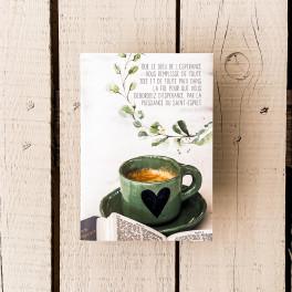 """""""Carnet note La tasse de café"""""""